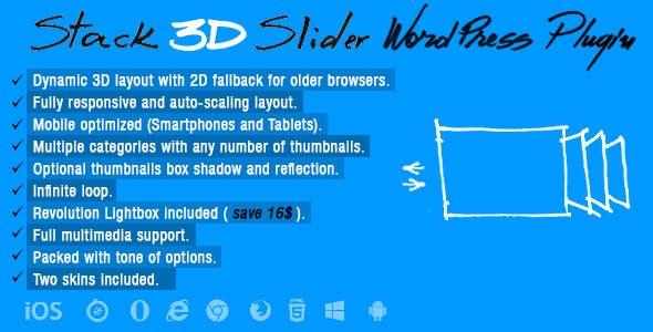 Stack 3D Slider Wordpress Plugin