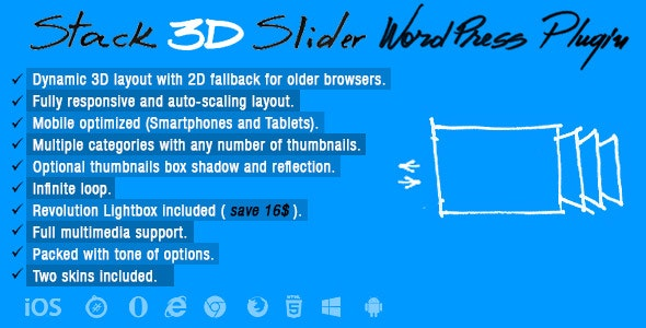 Stack 3D Slider Wordpress Plugin - CodeCanyon Item for Sale