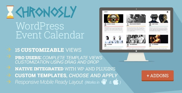 Chronosly Event Calendar WordPress Plugin - CodeCanyon Item for Sale