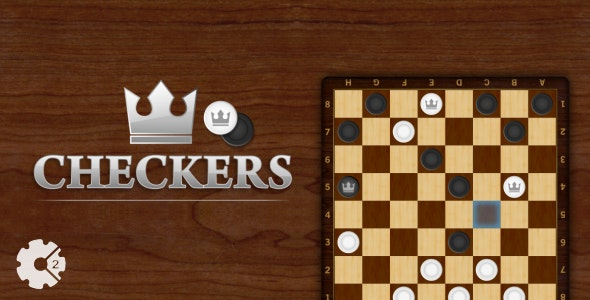 Checkers - HTML5 Board Game ( Construct 2 ) - CodeCanyon Item for Sale