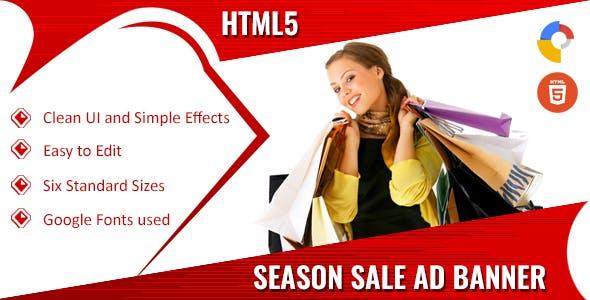 Seasonal Sales -  HTML5 Ad Banners
