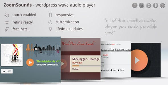 ZoomSounds - WordPress Wave Audio Player with Playlist        Nulled