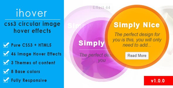 ihover – CSS3 Circular Image Hover Effects