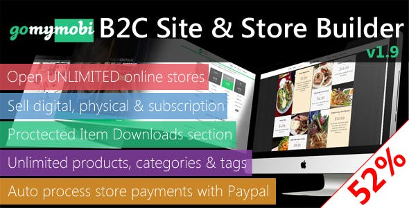 gomymobiBSB: eCommerce - B2C Business Website & Online Store Builder