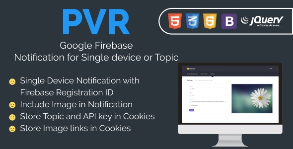PVR Firebase Notification - CodeCanyon Item for Sale