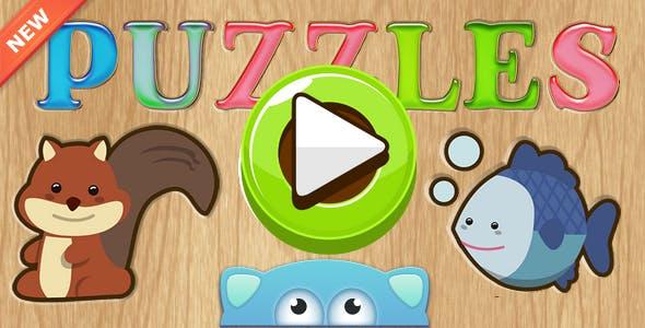 Puzzles-educational children's game, AdMob