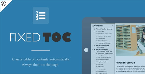 Fixed TOC - table of contents for WordPress plugin by wphigh