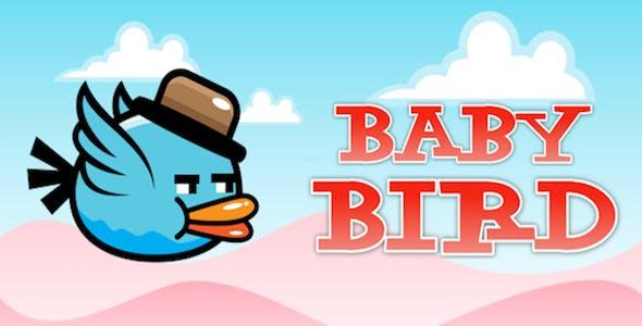Baby Bird flies in the Sky – Clone of Flappy Bird – iPhoneX, iOS13 ready