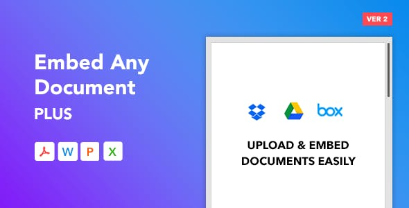 Embed Any Document Plus - WordPress Plugin        Nulled