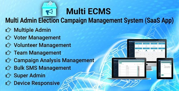 ECMS - Election Campaign Management System (SaaS App)