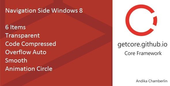 Navigation Side Windows 8 - CodeCanyon Item for Sale