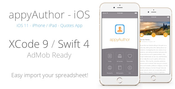 appyAuthor - iOS Reference App for Quotes, Info, Books, Authors ecc. - CodeCanyon Item for Sale