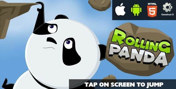 Rolling Panda - HTML5 Game (CAPX) - CodeCanyon Item for Sale
