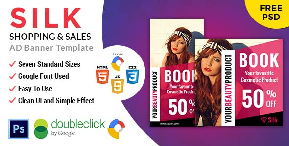 Silk | Shopping HTML 5 Animated Google Banner