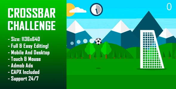 Crossbar Challenge - HTML5 Game + Mobile Version! (Construct-2 CAPX)