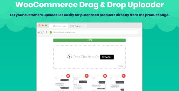WooCommerce Drag & Drop Uploader | Ajax File Upload - CodeCanyon Item for Sale