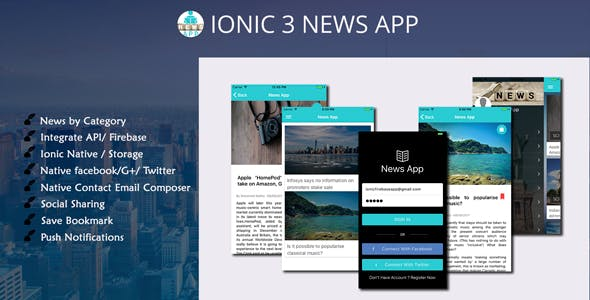 ionic 3 News app with Firebase