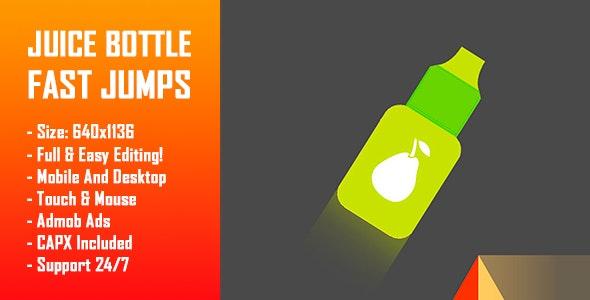 Juice Bottle - Fast Jumps (Bottle Jump Challenge) - HTML5 Game + Mobile Version! (Construct-2 CAPX) - CodeCanyon Item for Sale
