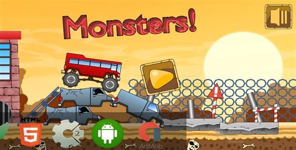 Monster Track - HTML5 Mobile Game (Capx)