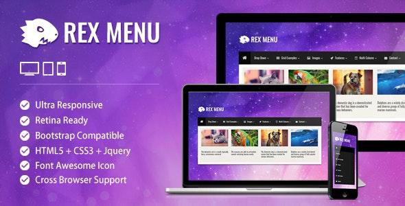 Rex Menu - Responsive jQuery Mega Menu - CodeCanyon Item for Sale