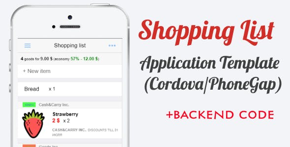 Shopping List App Template (with backend)