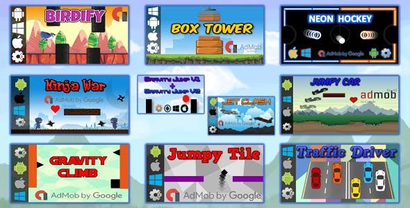 10 HTML5 Games Bundle (Construct 2 - CAPX)