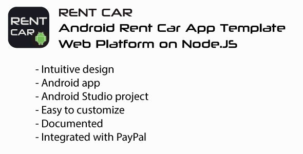 RentCar | Android + Web Rent Car Template - CodeCanyon Item for Sale