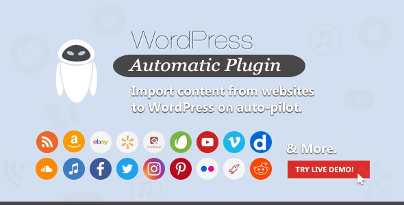 WordPress Automatic Plugin by ValvePress | CodeCanyon