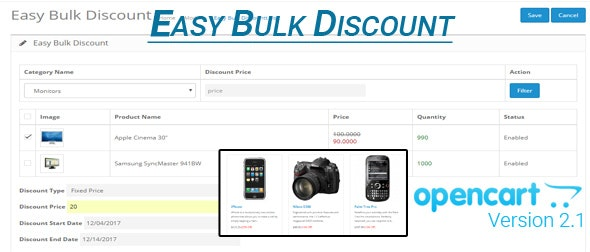 Opencart Easy Bulk Discount - CodeCanyon Item for Sale