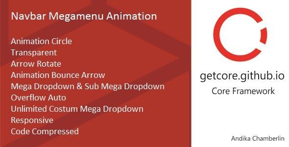 Navbar Mega Menu Animation