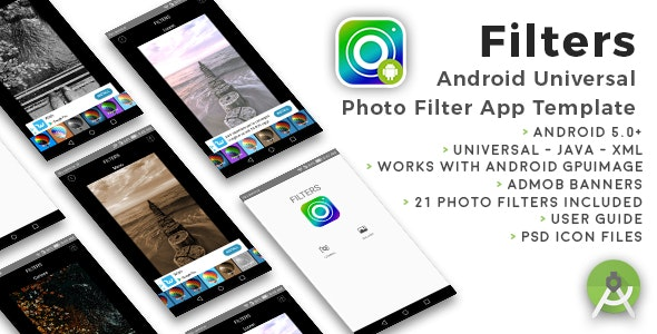 Filters | Android Universal Photo Filters App Template by