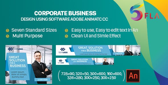 Corporate Business Banners HTML5 - 7size (Animate CC)