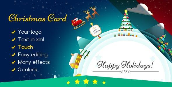 Christmas Card Gift Planet