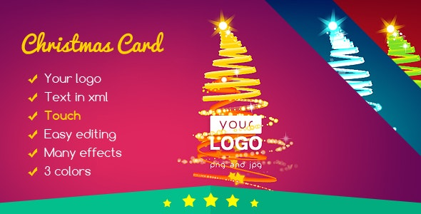 Christmas Card Tree of Lights - CodeCanyon Item for Sale