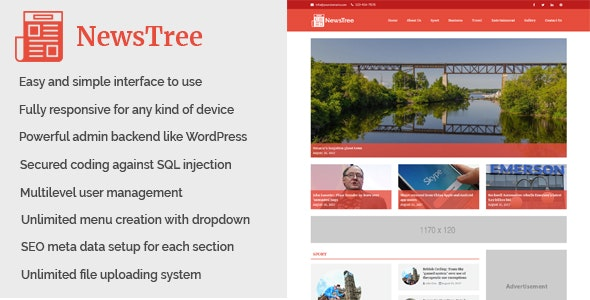 NewsTree - Magazine and News Portal Website CMS - CodeCanyon Item for Sale