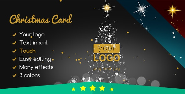 Christmas Card Elegant Lights - CodeCanyon Item for Sale