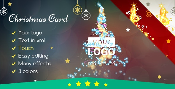 Christmas Card Magic Lights - CodeCanyon Item for Sale