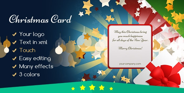 Christmas Card Gift for You - CodeCanyon Item for Sale