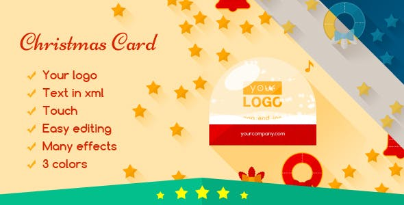 Christmas Card Flat Elegant