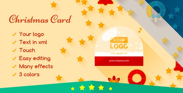 Christmas Card Flat Elegant - CodeCanyon Item for Sale