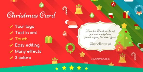 Christmas Card Flat - CodeCanyon Item for Sale