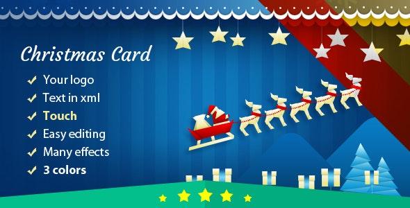 Christmas Card with Sleigh - CodeCanyon Item for Sale