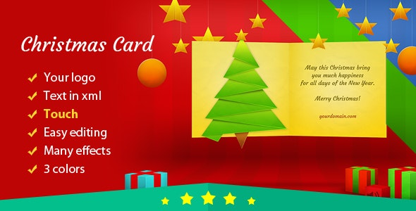 Christmas Card with Many Effects - CodeCanyon Item for Sale