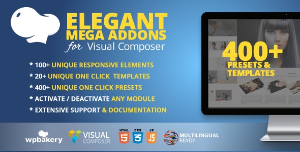 Elegant Mega Addons for WPBakery Page Builder (formerly Visual Composer) - CodeCanyon Item for Sale