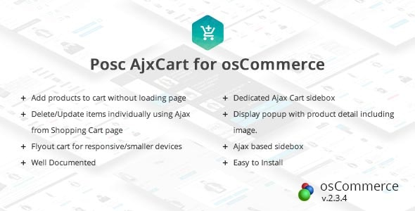 Posc Ajxcart - Ajax Add to cart for osCommerce by