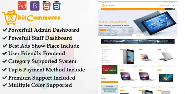 Ecommerce - Cryptocurrency Supported Responsive eCommerce Business Platform - CodeCanyon Item for Sale