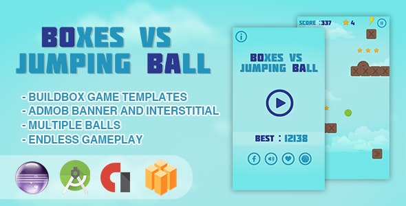 Boxes Vs Jumping Ball - Android Studio + Eclipse + Buildbox Template - CodeCanyon Item for Sale