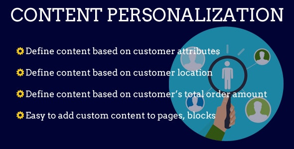 Magento 2 Content Personalization - CodeCanyon Item for Sale