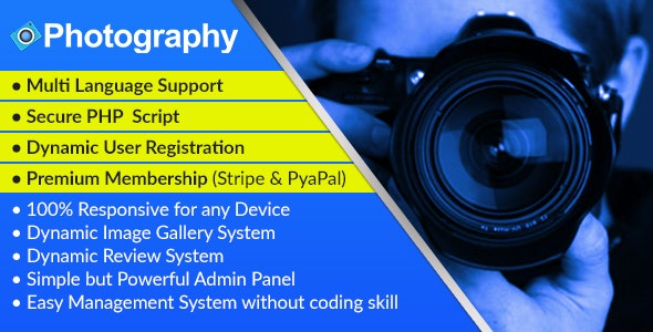 Photography - Dynamic Photographer Management Syestem and Directory Script - CodeCanyon Item for Sale