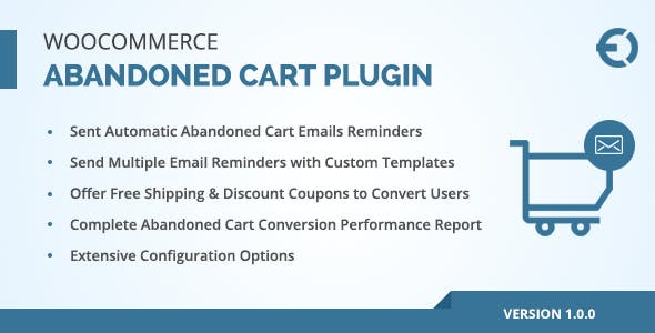 WooCommerce Abandoned Cart Email Plugin, Recover Abandoned Carts